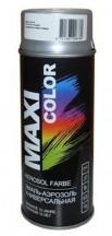 Эмаль-аэрозоль термостойкая серебристая MAXI COLOR 0007MX 400мл