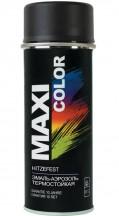Эмаль-аэрозоль термостойкая черная MAXI COLOR 0008MX 400мл