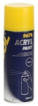 MANNOL 9674 Acryl Paint black Краска акриловая черная 400 мл
