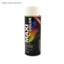 Эмаль-аэрозоль сигнально-белая MAXI COLOR RAL9003 400мл